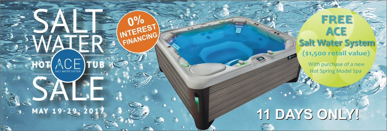 ACE Hot Tub Sale May 19-29